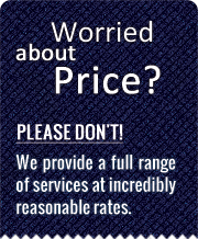 Worried about prices? Please don't! We provide a full range of reupholstery services at incredibly reasonable rates.